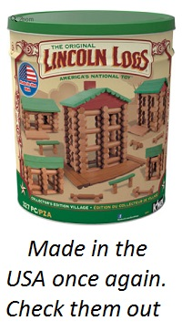 Lincoln Logs Made in the USA